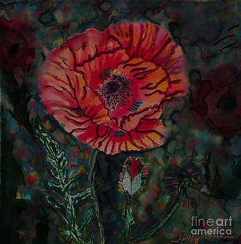 Poppy on Green by Goodson Kathy