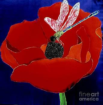 Poppy with Dragonfly by Goodson Kathy