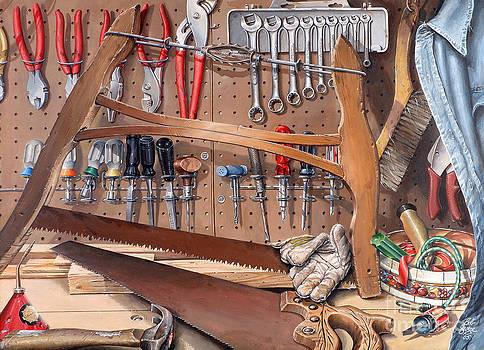 Pop's Work Bench by Bob  George