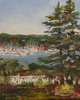 Porch View of Beacons Bay Marina by Monica Ironside