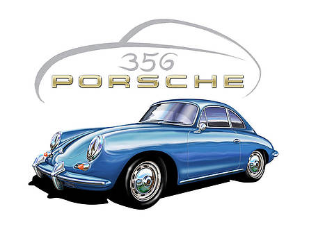 Porsche 356 Coupe Blue by David Kyte