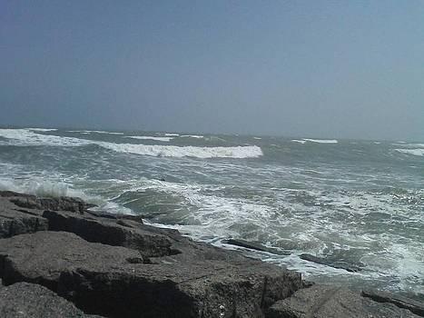Port Aransas Waves by Chris Melaga