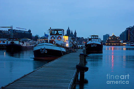 Port of Amsterdam before dawn by Kiril Stanchev