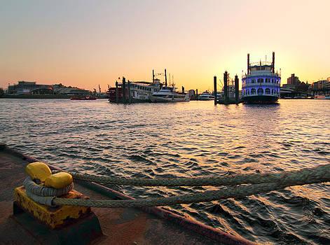 Port of Hamburg Sunset by Marc Huebner