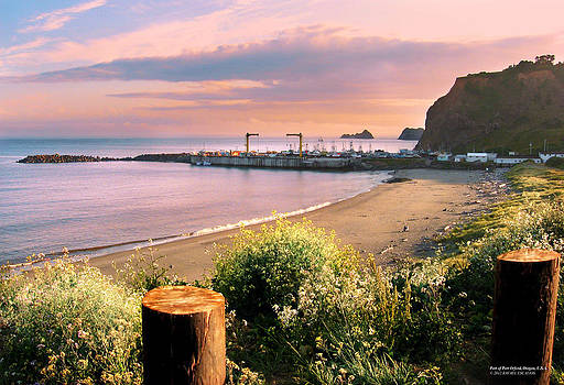 Port of Port Orford Oregon by Rafael Escalios