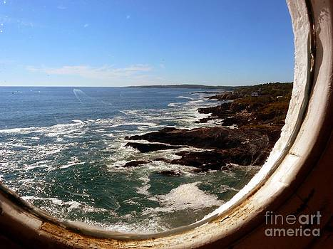 Christine Stack - Porthole in Portland Headlight Lighthouse in Maine