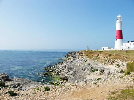 Portland Bill Lighthouse on The Island of Portand by Moya Moon