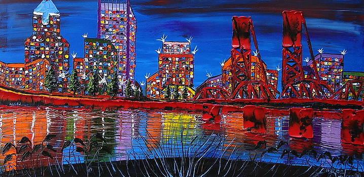 Portland City Lights 23 by Portland Art Creations