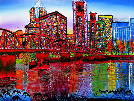 Portland City Lights #45 by Portland Art Creations