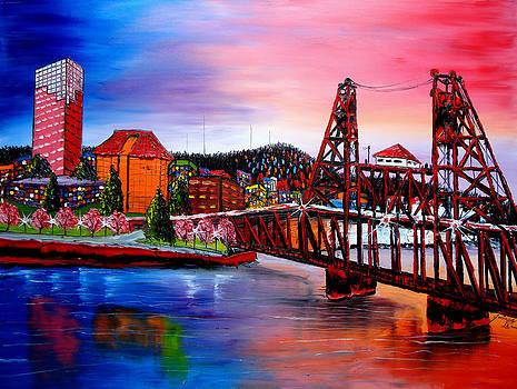 Portland City Lights 48 by Portland Art Creations