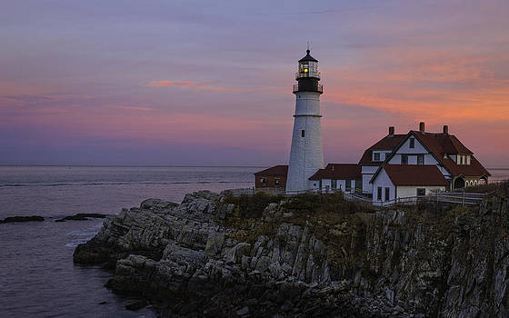 Portland Head Lighthouse Sunset by Dave Files
