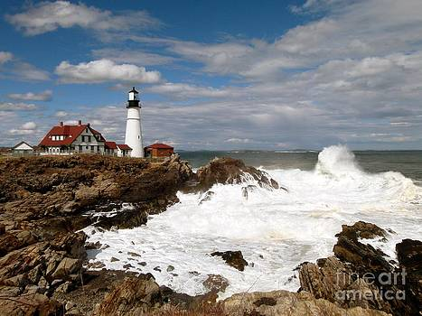 Christine Stack - Portland Headlight After the Storm