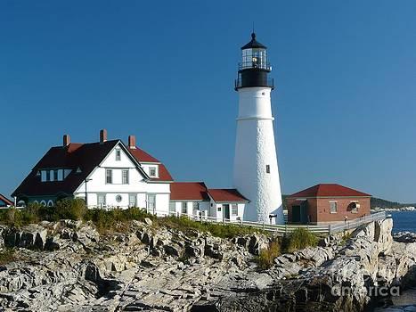 Christine Stack - Portland Headlight Lighthouse in Maine Closeup