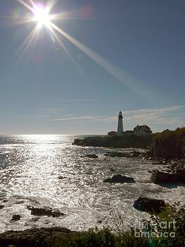 Christine Stack - Portland Headlight Lighthouse  in Maine Silhouette