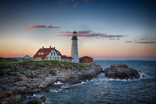 John Haldane - Portland Headlight Sunset
