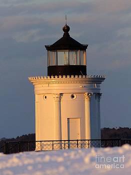 Christine Stack - Portland Ledge Lighthouse Bug Light Winter Sunset