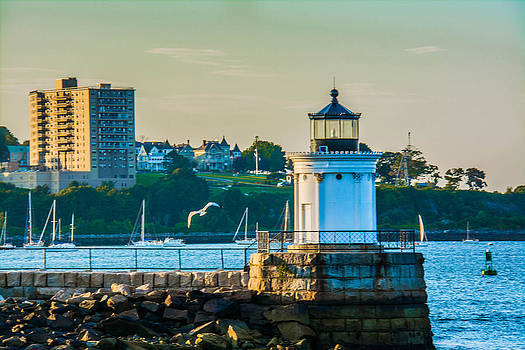 Portland Lighthouse CItyscape by Jason Brow