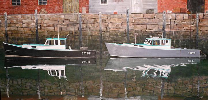Portland Lobster Boats by Steven Fleit