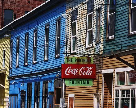 Portland Maine side street by Chuck  Hicks