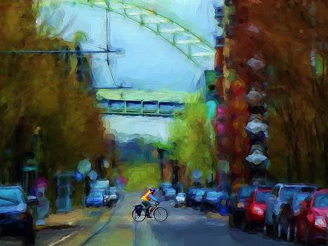 Portland Rider by Cary Shapiro