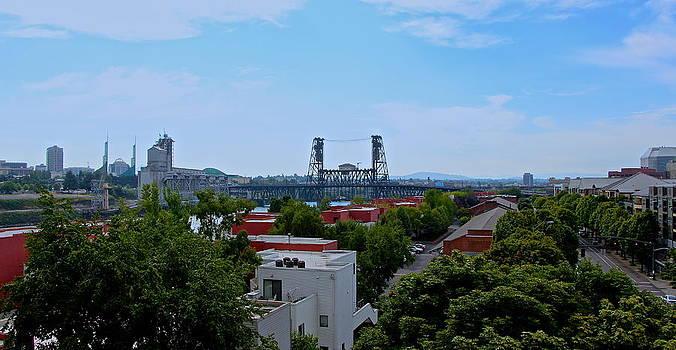 Portland Steel Bridge by Tim Rice
