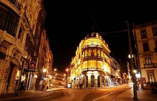 Jose Carlos Fernandes  - Porto Portugal at Night 1 AM