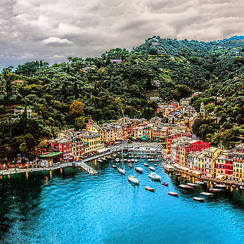 Portofino Italy 40 x 40 1 of 3 by Paul James