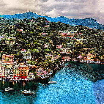 Portofino Italy 40 x 40 2 of 3 by Paul James