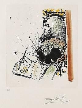 Portrait de Calderon La vida es un Sueno by Salvador Dali