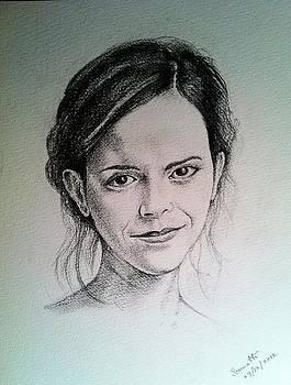 Portrait Emma Watson by Somnath Kundu