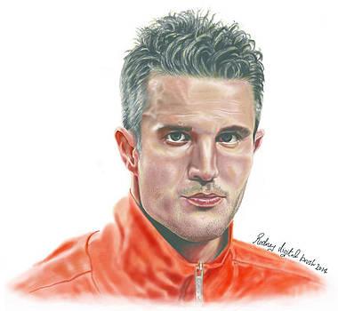 Portrait for Robin Van persie i by Kawaayi Rodney