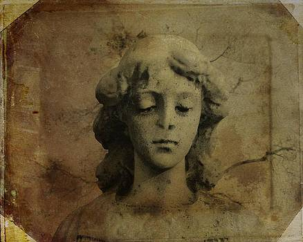Gothicrow Images - Dark And Aged Stone Angel Portrait