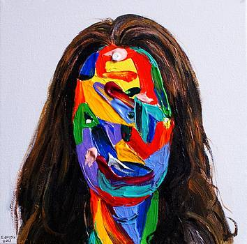 Portrait of a famous woman by Edward Ofosu