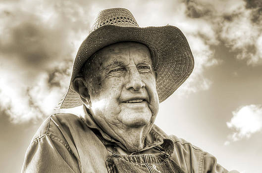 Lisa Moore - Portrait of a Farmer in Sepia