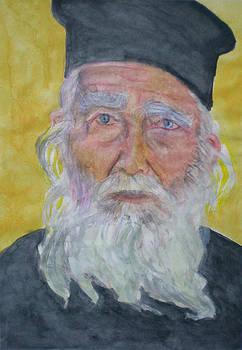 Portrait of a Greek priest  by Alix Mordant