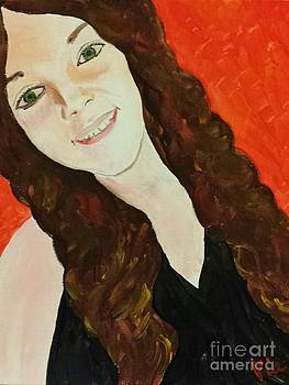 Ptg. Portrait of a Teenager by Judy Via-Wolff