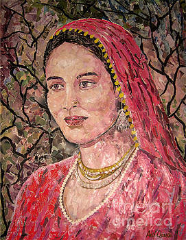 Portrait Of A Village Women by Arif  Qureshi