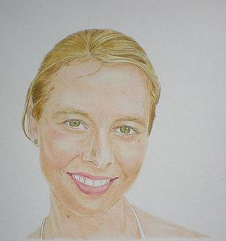 Portrait of a young Australian woman by Alix Mordant