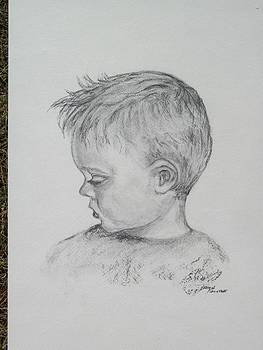 Portrait of a Young Boy by Paula Rountree Bischoff