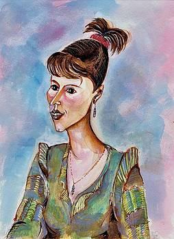 Ion vincent DAnu - Portrait of a Young Businesswoman
