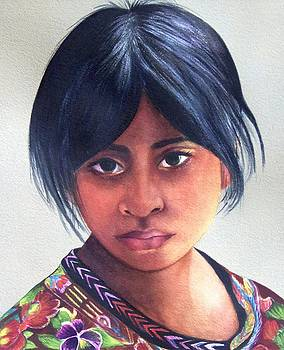 Portrait of a Young Mayan Girl by Susan Santiago