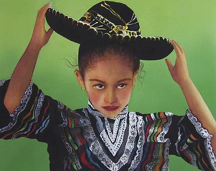 Portrait of a Young Mexican Girl by Susan Santiago