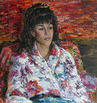 Portrait of a young woman by Misha Lapitskiy