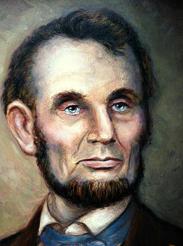 Portrait of Abraham Lincoln by June Ponte