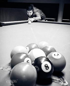 Portrait of an awesome pool player by Stwayne Keubrick