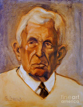 Portrait of an older man by Greta Corens