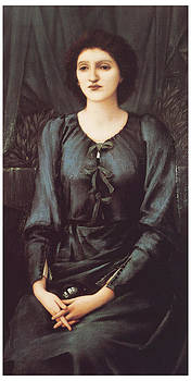 Edward Burne-Jones - Portrait of Baronne Madeleine Deslanders