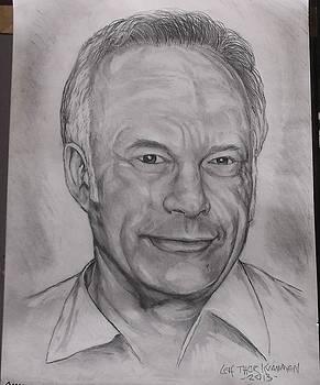 Portrait Of Bob Muir by Leif Thor Kvammen