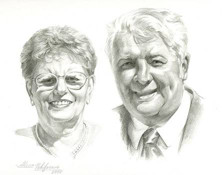 Portrait of couple. Commission. by Alena Nikifarava