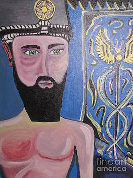 Portrait of Enki the annunaki by Yoandy Rodriguez